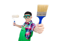 Funny painter Royalty Free Stock Photography