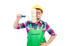 Funny painter Stock Images
