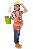 Funny painter isolated Royalty Free Stock Images