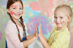 Funny painters Royalty Free Stock Photo