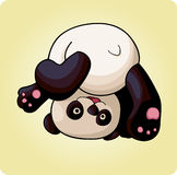 Funny panda does a somersault. Funny panda makes a somersault over his head, bright colors, illustration vector illustration