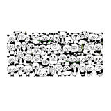 Funny panda family for your design Royalty Free Stock Images