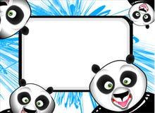 Funny Panda Frame Stock Photo