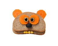 Funny panda made of bread Stock Photos