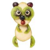 Funny panda made of fruits Stock Photos