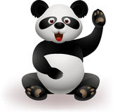 Funny panda waving hand Stock Photo