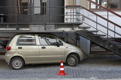 Funny parking Stock Images