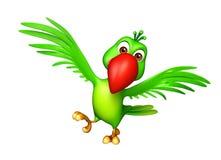 Funny  Parrot cartoon character Stock Photography