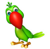 Funny  Parrot cartoon character Royalty Free Stock Images