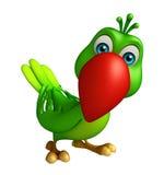 Funny  Parrot cartoon character Stock Photos