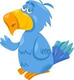 Funny parrot cartoon illustration Royalty Free Stock Image
