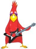 Funny Parrot. Rock Star royalty free illustration