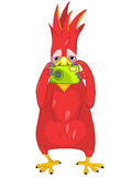 Funny Parrot. Tourist Photographer. Cartoon Character Funny Parrot Isolated on White Background. Tourist Photographer. Vector EPS 10 stock illustration
