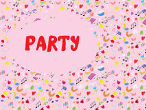 Funny party invitation cute Stock Images