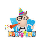 Funny party man Royalty Free Stock Images