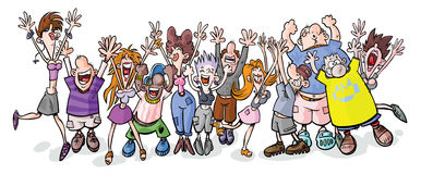 Funny party people. vector illustration
