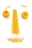 Funny pasta face Royalty Free Stock Image