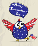 Funny patriotic bird. Stock Photos