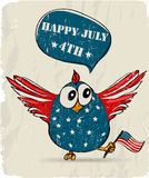 Funny patriotic bird. Royalty Free Stock Photos