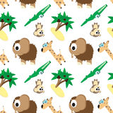 Funny pattern angry animals illustration Royalty Free Stock Photos