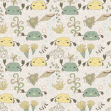 Funny pattern with cute crabs. Royalty Free Stock Photo