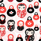 Funny pattern with dolls Stock Image