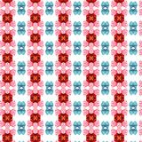 Funny pattern. Interesting and alive pattern for different uses, in red and blue tones, even funny anyway Stock Photo