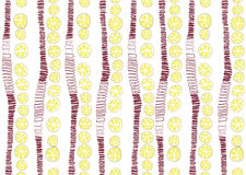 Funny pattern with lemons Stock Photos