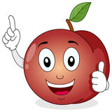 Funny Peach Cartoon Character Smiling Royalty Free Stock Image