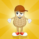 Funny peanut Stock Images