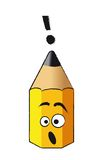 Funny pencil Stock Images