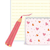 Funny pencil and notebook Royalty Free Stock Photos