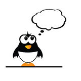 Funny penguin color vector Royalty Free Stock Photo