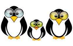 Funny penguin family Stock Image