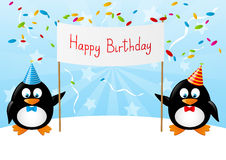 Funny penguins Stock Images