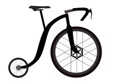 Funny penny-farthing Stock Photo