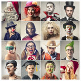 Funny people Stock Images