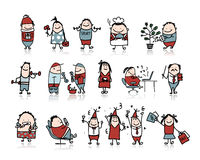 Funny people collection for your design. Vector illustration Stock Images
