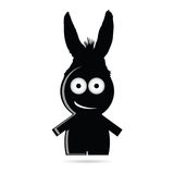 Funny people with donkey ears vector. Illustration Stock Photo