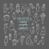 Funny people doodles Stock Image