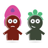 Funny people icon color vector. Illustration Stock Images