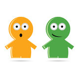 Funny people icon colorful vector. Funny people icon vector illustration Stock Photography