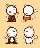 Funny people icons. Set of funny people icons Stock Image