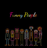Funny People Royalty Free Stock Photography