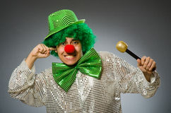 The funny person in saint patrick holiday concept Stock Photography
