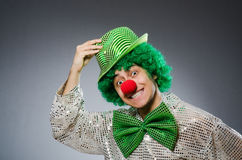 The funny person in saint patrick holiday concept Royalty Free Stock Photography