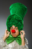 The funny person in saint patrick holiday concept Royalty Free Stock Image
