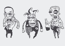 Funny personages set stock illustration