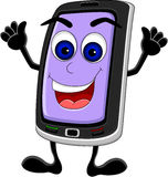 Funny phone cartoon Stock Photo