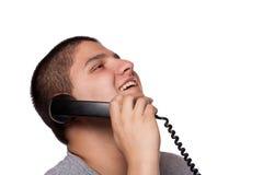 Funny Phone Conversation Royalty Free Stock Photos